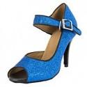 Camille : Chaussures de danse avec brides croisées sur l'avant du pied