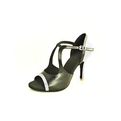 Nina : Chaussures de danse avec des vagues strassés
