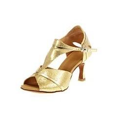 Rose : Modèle pour des chaussures de danse argentés
